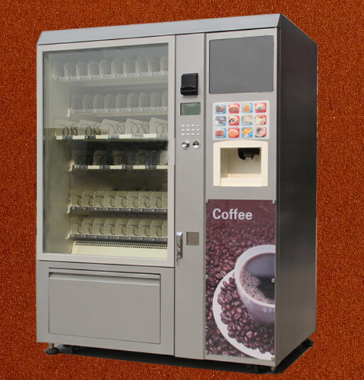 Vending Machines Coin Operated Coffee Machine and Snack/Cold Drink LV-X01 with 17inch LCD Display