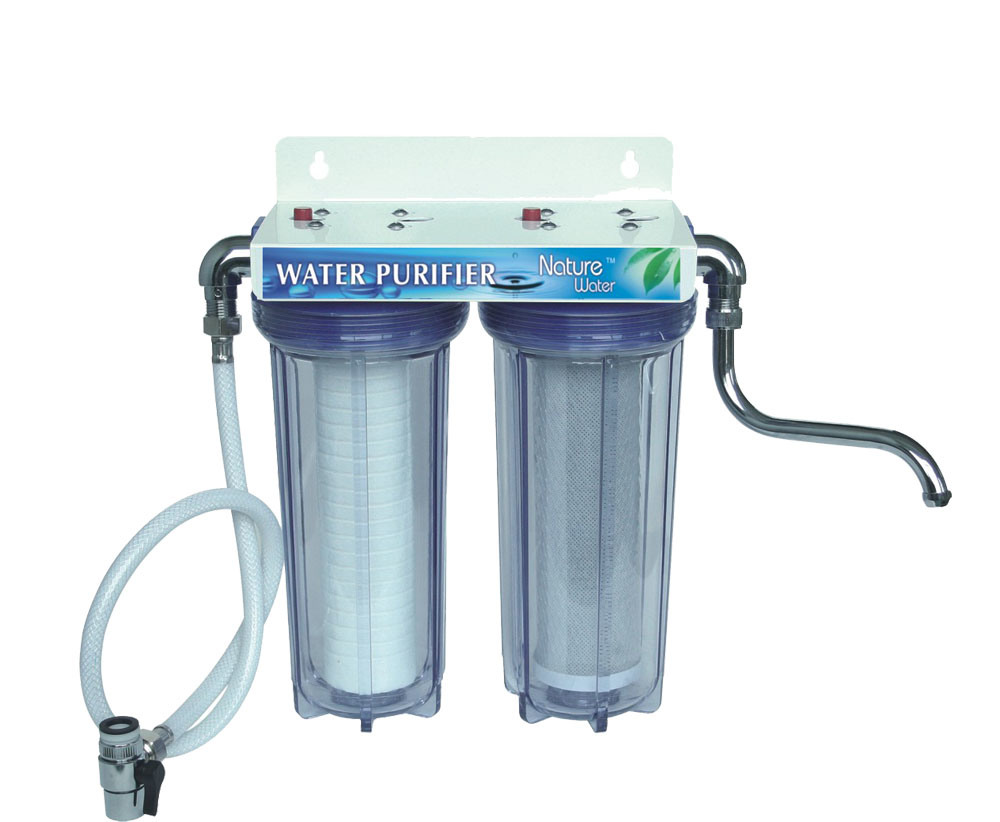 2 Stage Water Purifier with Adapter, Buy Water Filter,Double Water ...