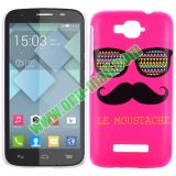Cheap Custom Cell Phone Case Cover for Alcatel One Touch Pop C7 (Rose Moustache and Sunglass)