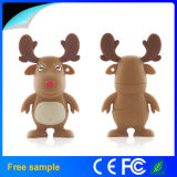 Christmas Decoration Soft PVC Sleigh Milu Deer USB Disk Reindeer USB Flash Drive