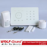 Home Appliance! Quadband Wireless Control Touch Screen Wireless Alarm System with LCD Display and Touch Keypad (YL007M2G)