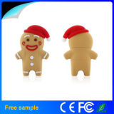 Soft PVC Pendrive USB 2.0 Christmas Ginger Bread USB Flash Drive