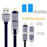 3.3FT Lightning Micro USB Charging Cord for iPhone 6s Plus