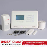 2013 New GSM Alarm System with LCD Display and Touchkeypad