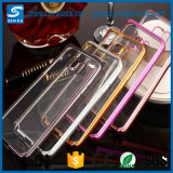 Wholesale Plating Bumper Transparent Soft TPU Mobile Back Case Cover for Samsung Galaxy A7