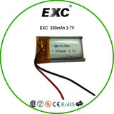 701528 Li-ion Battery 3.7V 200mAh Lithium Battery for Recorder with PCB PTC