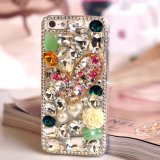 Heart Coloured Diamond Pearl Phone Case for All Cell Phones