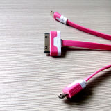 3 in 1 Phone Accessories Data USB Cable for iPhone Samsung HTC Hua Wei Tablet PC