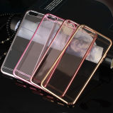 Ultrathin Clear Cell Phone Case for iPhone 6/6s/6plus Samsung S6/Note3/Note4 Electroplate Mobile Cover