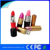 Fashionable 3D Plastic Colorful Lady Lipstick USB Flash Drive