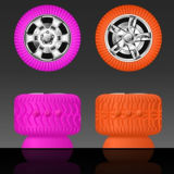 New! Exclusive Unique Tyre Design Portable Sucker Bluetooth Speaker