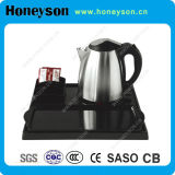 Hotel #304 Stainless Steel Electric Kettle with Tray Set