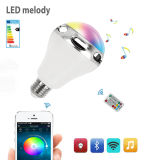 Bluetooth Smart LED Speaker Bulb Intelligent RGB Light Bulb Music Player LED Lamp APP Remote Control for Smartphones