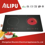 Plastic Housing Two Burners Infrared Cooker with Induction Cooker/Infrared Cooktop/Induction Stove with Ceramic Hob